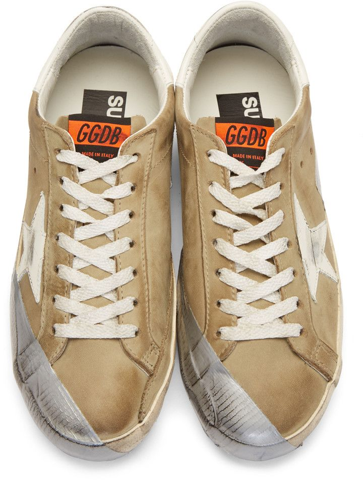 0c1069e03835 Golden Goose - Green Nubuck Superstar Sneakers | Fabulous Mens Fashion