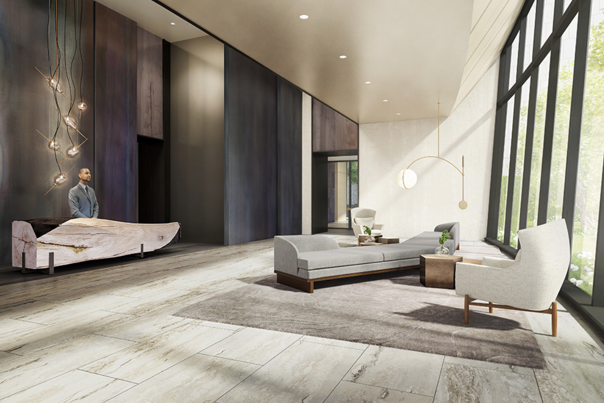 Interior Lobby 111 Murray Street Tribeca Luxury Real Estate Condo Condominium New