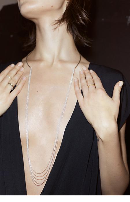 Long Silver Necklace - Saskia Diez for Filippa K - Shop Woman - Filippa K