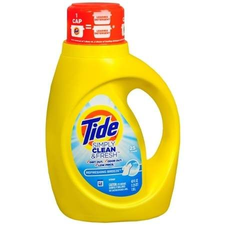 Tide Simply Clean Fresh Liquid Laundry Detergent Refreshing