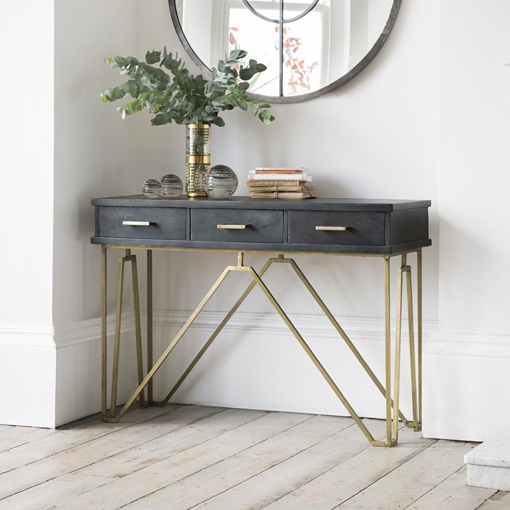 Modern hallway storage gold console table gold metal console table - Madison Console Table 399 Atkins And Thyme