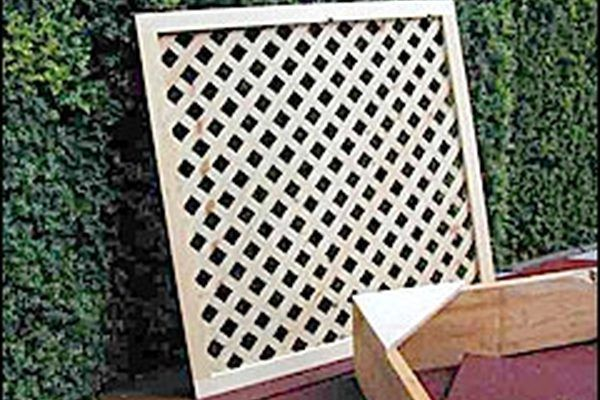 Lattice cover, picture provided by Bob Vila website.