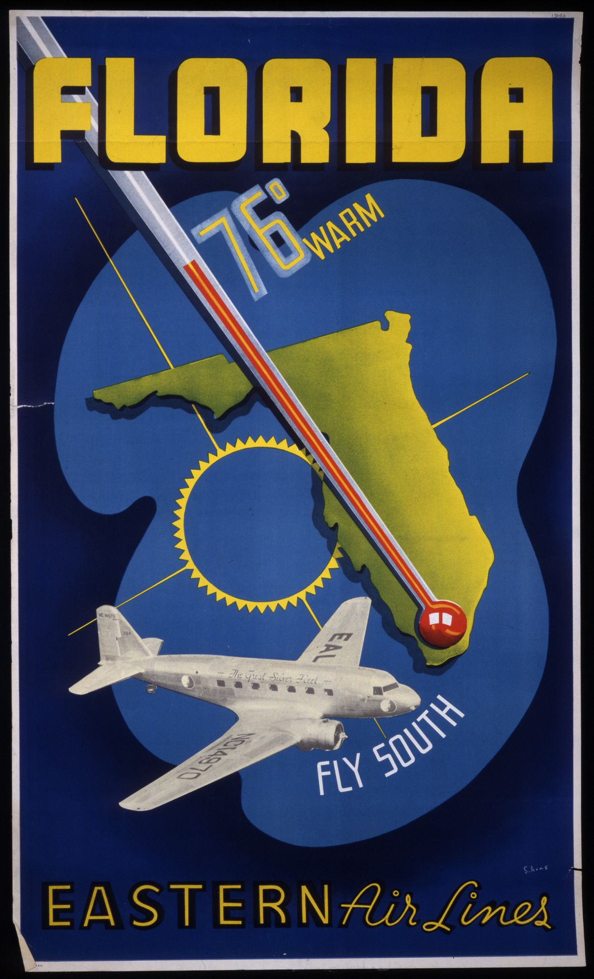 c.1938 Florida Eastern Airlines. Artist S. Hine.