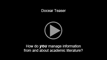 """The Academic Literature Suite Docear (""""dog-ear"""") is an academic literature suite. It integrates everything you need to search, organize and create academic literature into a single application: digital library with support for pdf documents, reference manager, note taking and with mind maps taking a central role.  Docear is free and open source, based on Freeplane."""