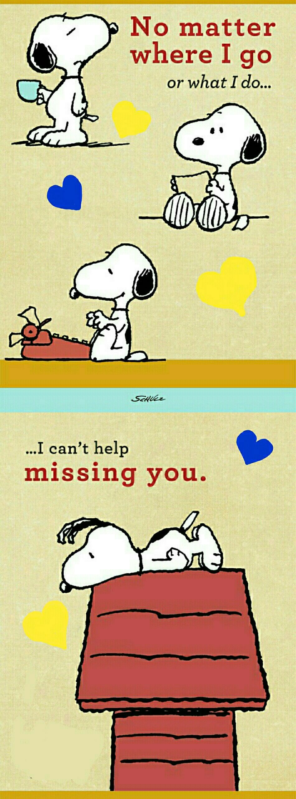 Peanuts Encouragement Missing You 6 Cards