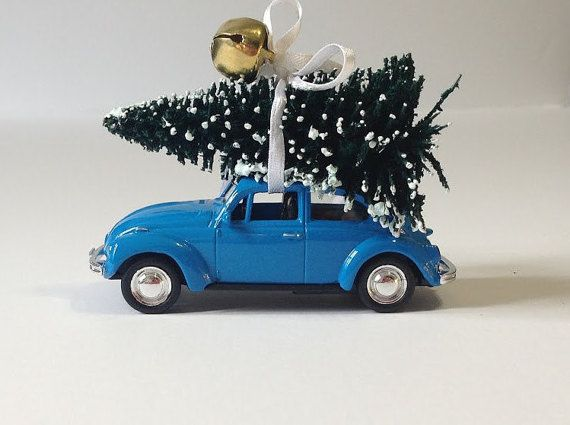 1967 Volkswagen Beetle Christmas ornament Car by LLunasCrafts - 1967 Volkswagen Beetle Christmas Ornament - Car Christmas Ornament