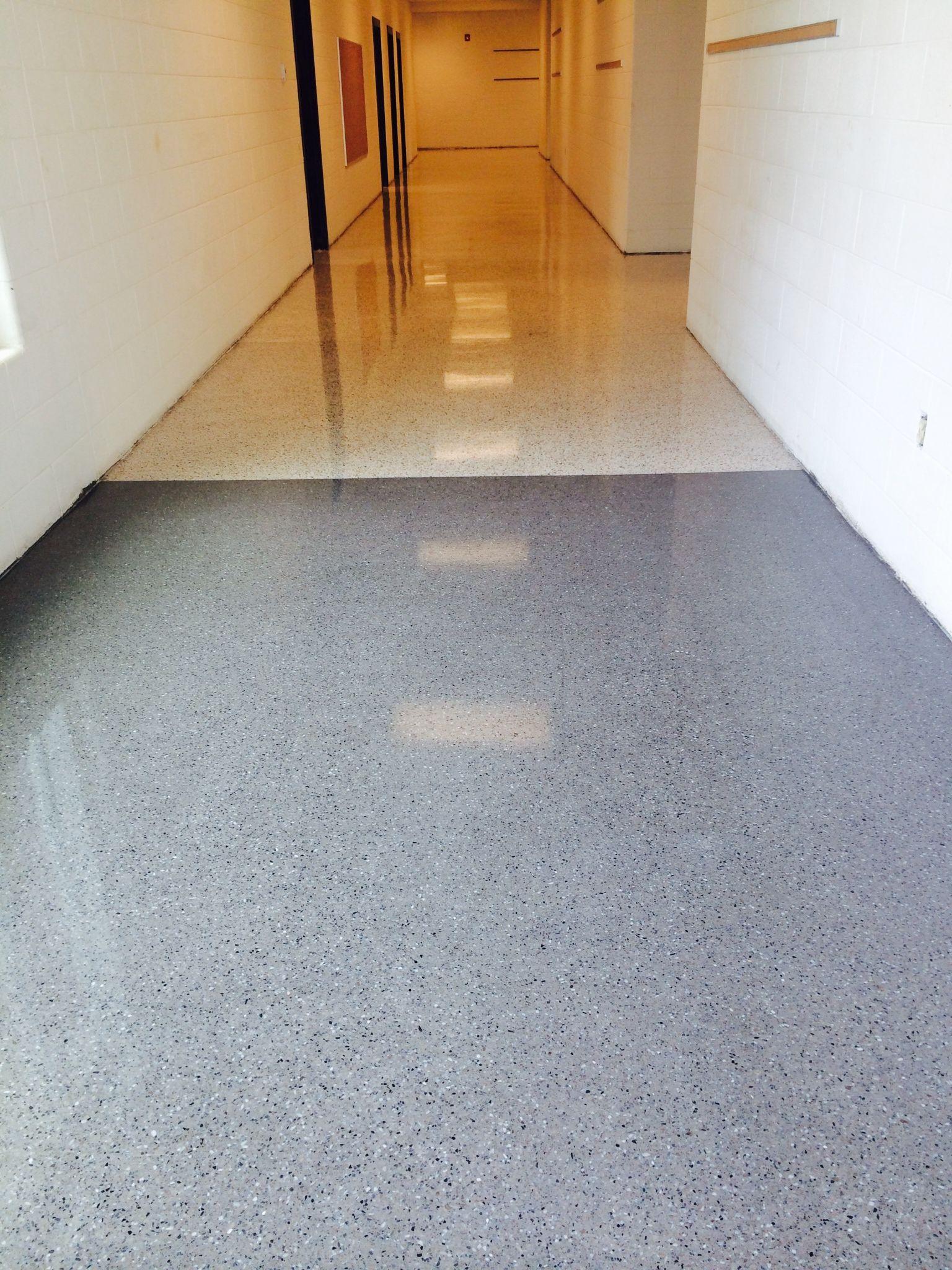 Epoxy Terrazzo Is A 1 4 Or 3 8 Inch Thin Set Flooring
