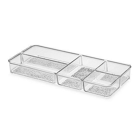 interdesign® rain divided cosmetic organizer tray  for secretary, Home design