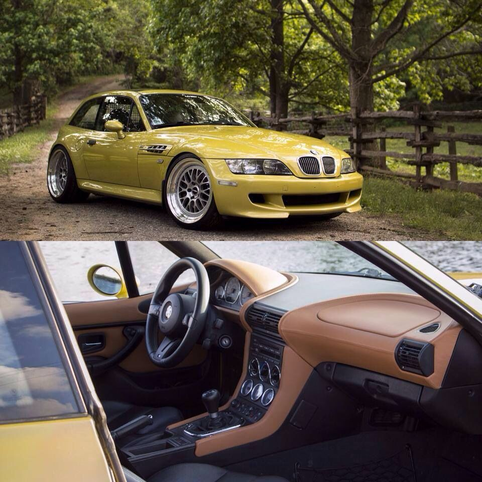 Bmw Z3 Classic Car: 2002 Phoenix Yellow S54 M Coupe Perfect Stance In Livery