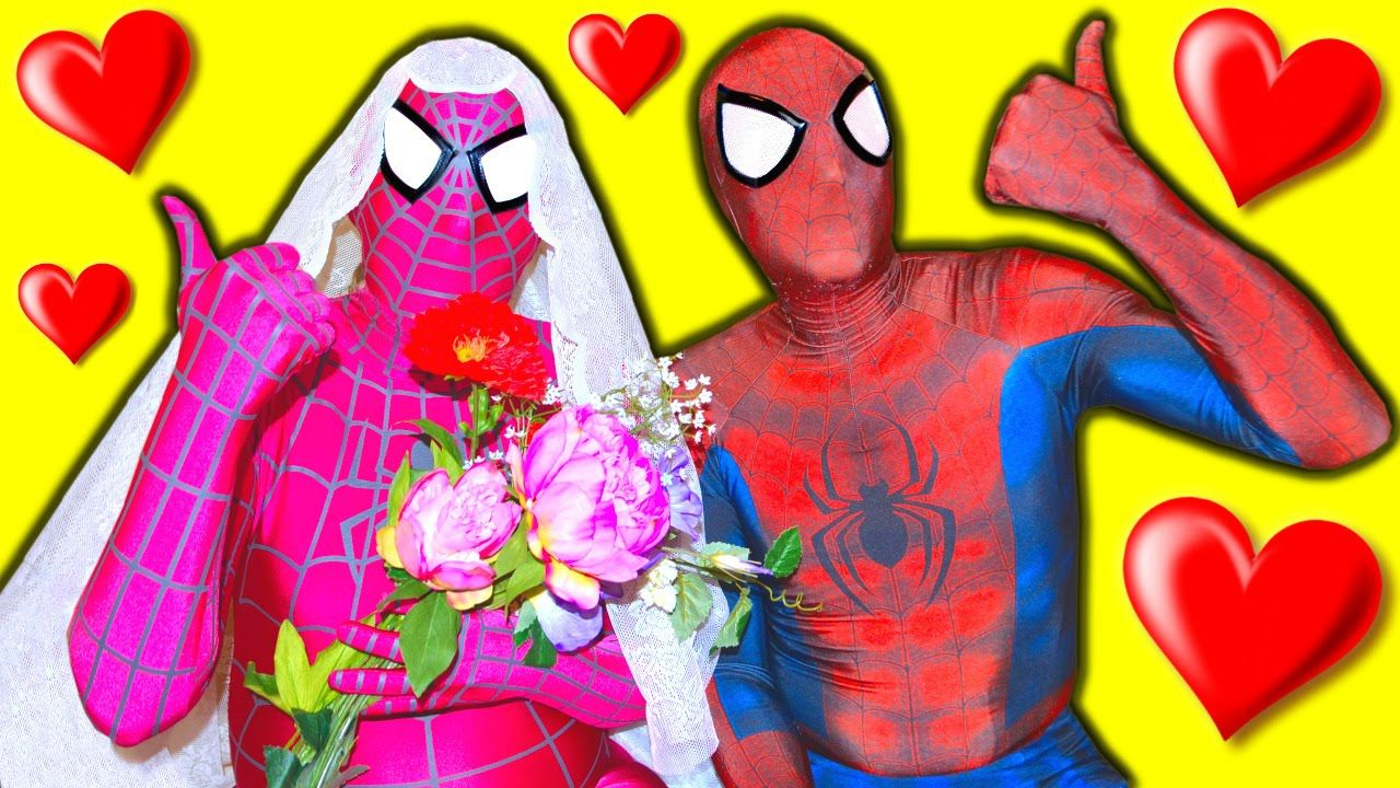 SPIDERMAN & PINK SPIDERGIRL Dream Wedding! Real Proposal Funny ...
