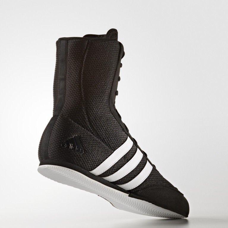 Adidas 2017 Box Hog Boxing Boots Black/White Boxing