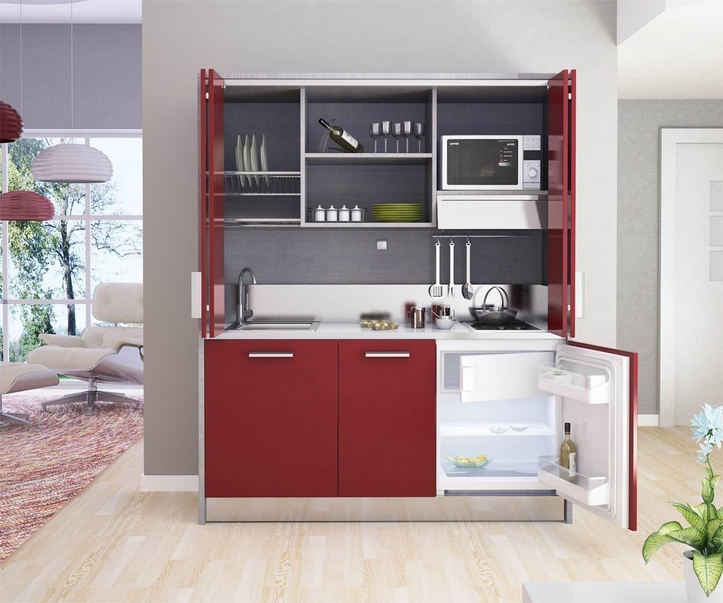 Mini Cucine A Scomparsa cucine a scomparsa monoblocco da cm.164 di minicucine