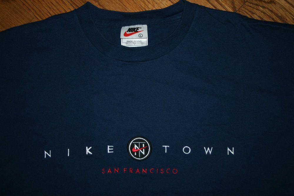 eb57a8e9f Vintage Nike Town San Francisco T-Shirt Men's Large California #NIKE  #GraphicTee