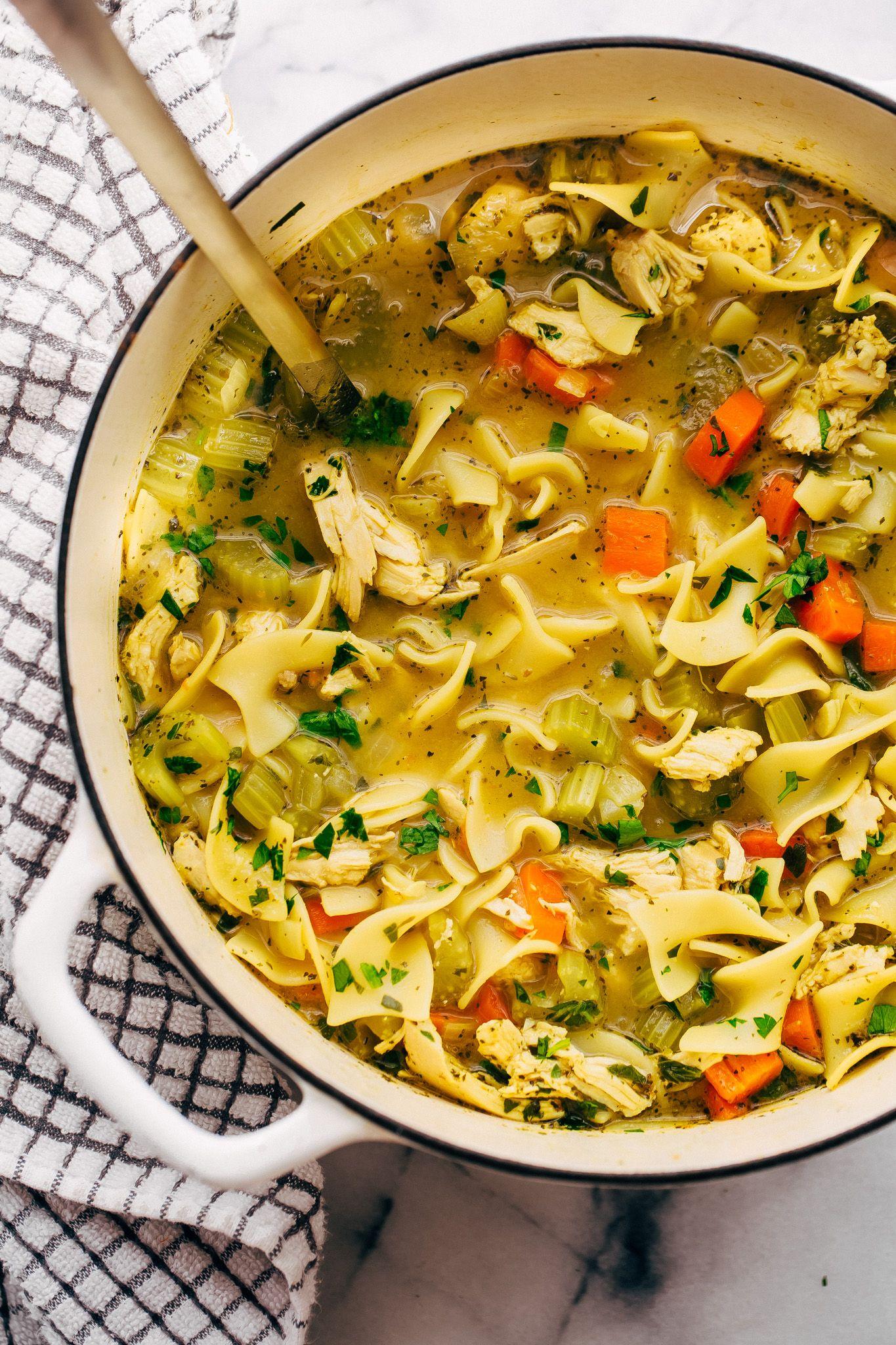 Flu-Fighting Chicken Noodle Soup Recipe | Little Spice Jar
