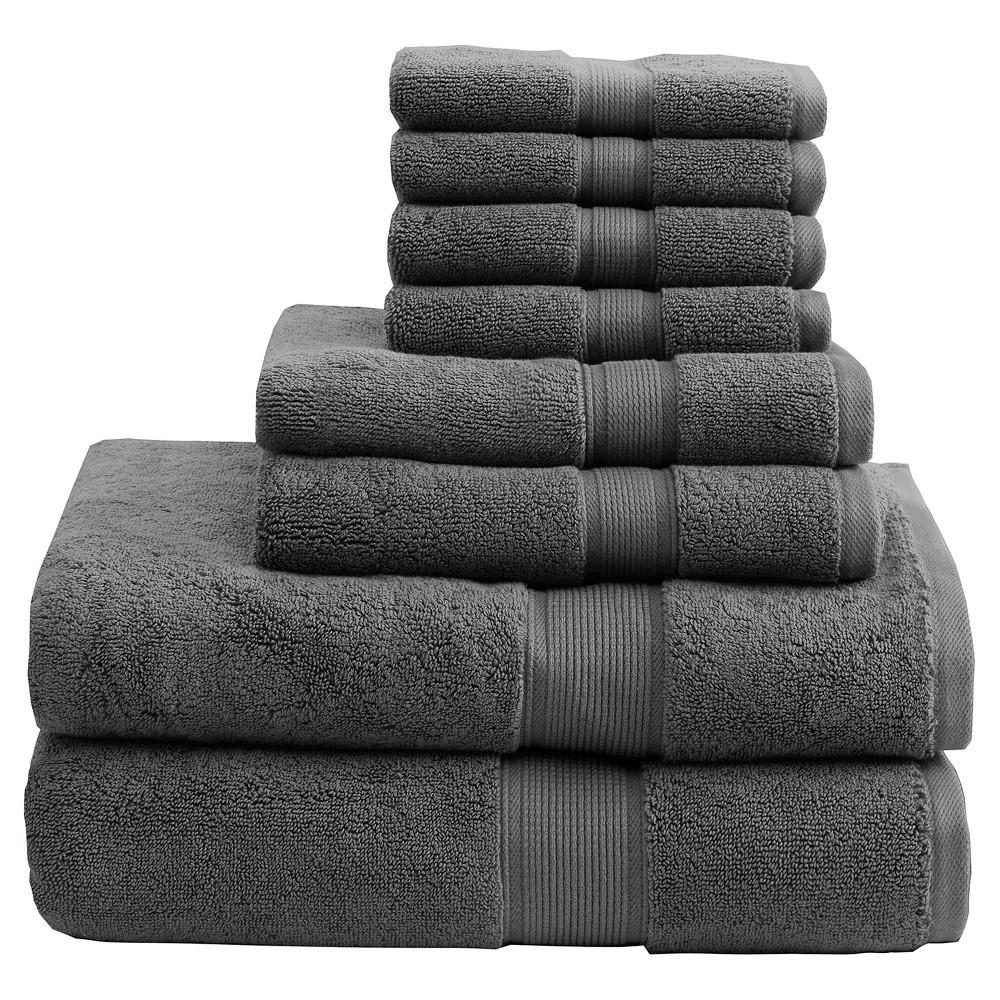 8pc Bath Towel Set Gray Towel Set Bath Towel Sets Towel