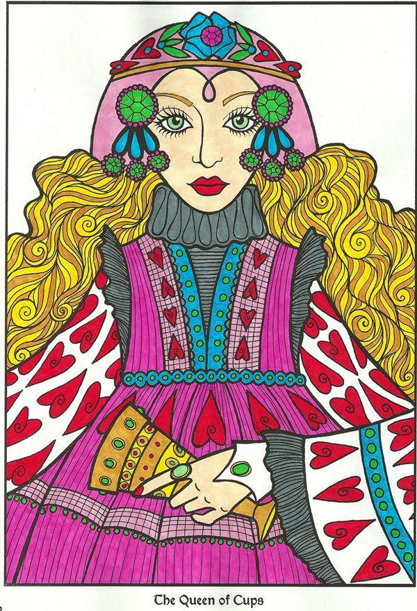 Tarot Designs Coloring Book Colored By Michele Hauf
