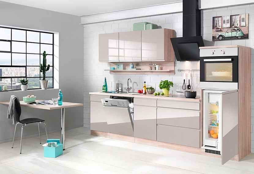 HELD MÖBEL KomplettSet Küchenzeile mit EGeräten