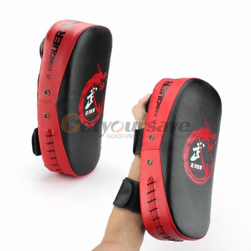 New PU Leather Target Boxing Sanda Arc Boxing Target Punching Kicking Palm Pad