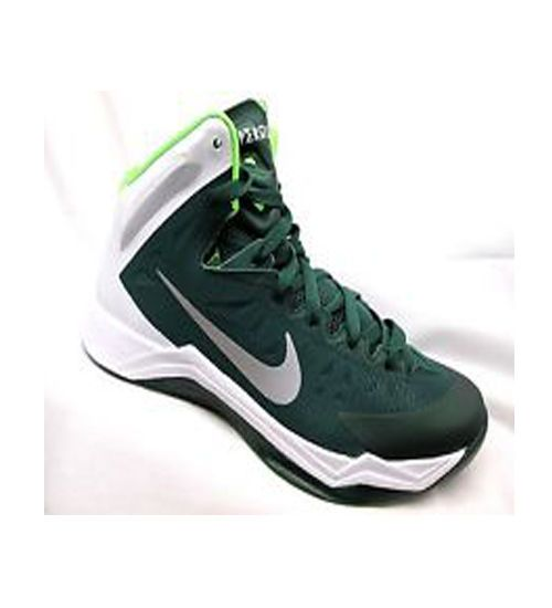 Mens Nike Zoom Hyperquickness Basketball Shoes Size 7 Green/Silver $105.05 # Nike #BasketballShoes