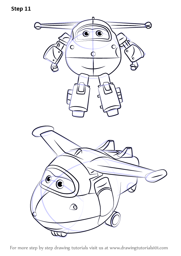 How To Draw Jett From Super Wings Drawingtutorials101com