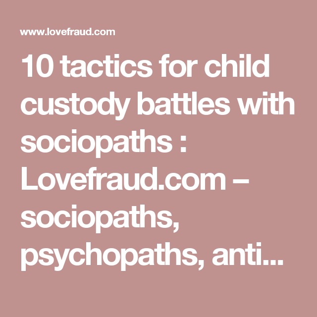 How to deal with a sociopathic parent