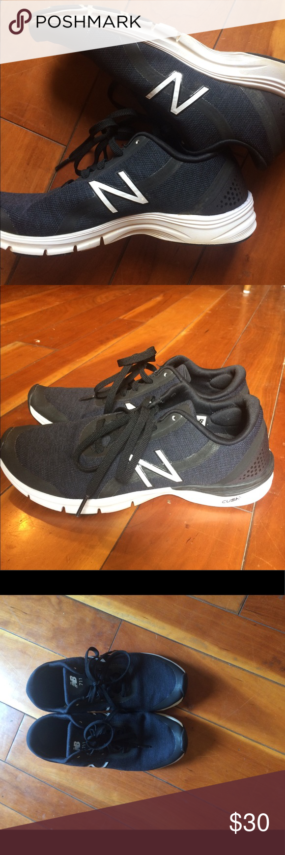 10cea9685f6c New Balance 711v3 fitness shoe. Women s size 9 Black fitness shoe perfect for  non-running activities. Sadly
