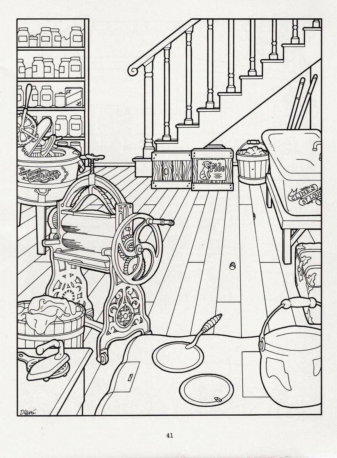 Victorian basement adult coloring
