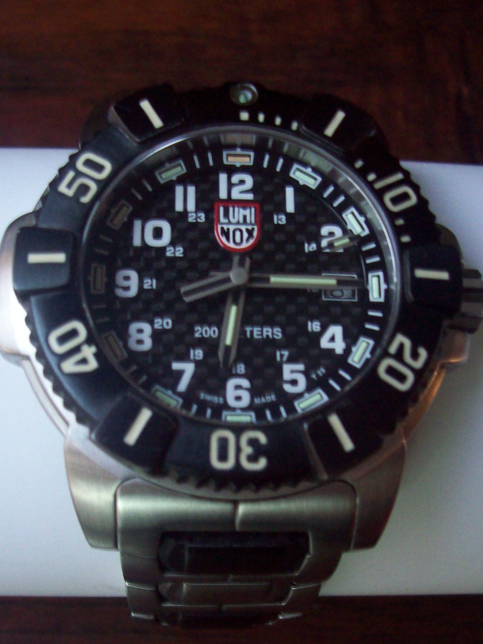 6a328c7ab Swiss Made Navy SEAL Divers Luminox 6100/6200 PVD Stainless Steel Men's  Watch