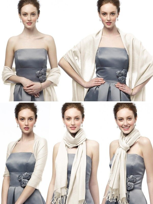 How To Wear A Pashmina For Bridesmaids I M Thinking Gifts