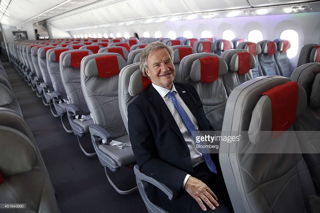 Bjoern Kjos Chief Executive Officer Of Norwegian Air Shuttle As Norwegian Air Boeing 787 Dreamliner Norwegian