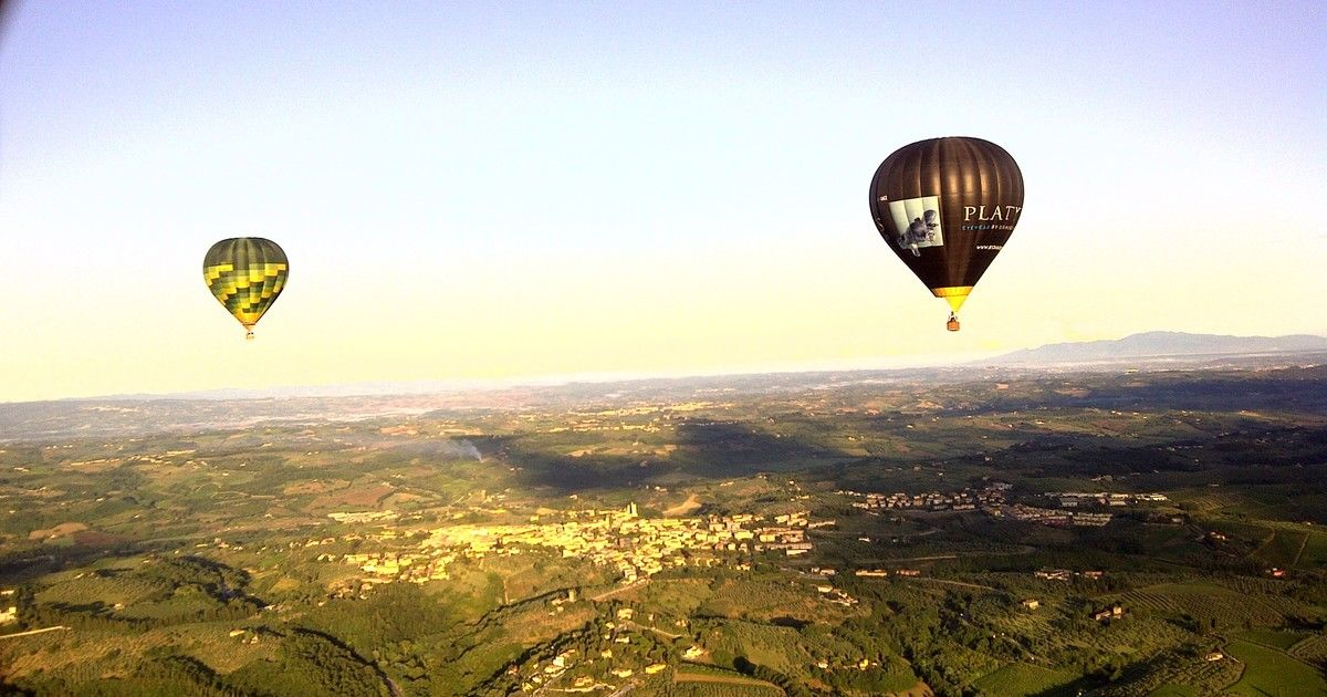 Balloon Flight Over Tuscany Florence Balloon flights
