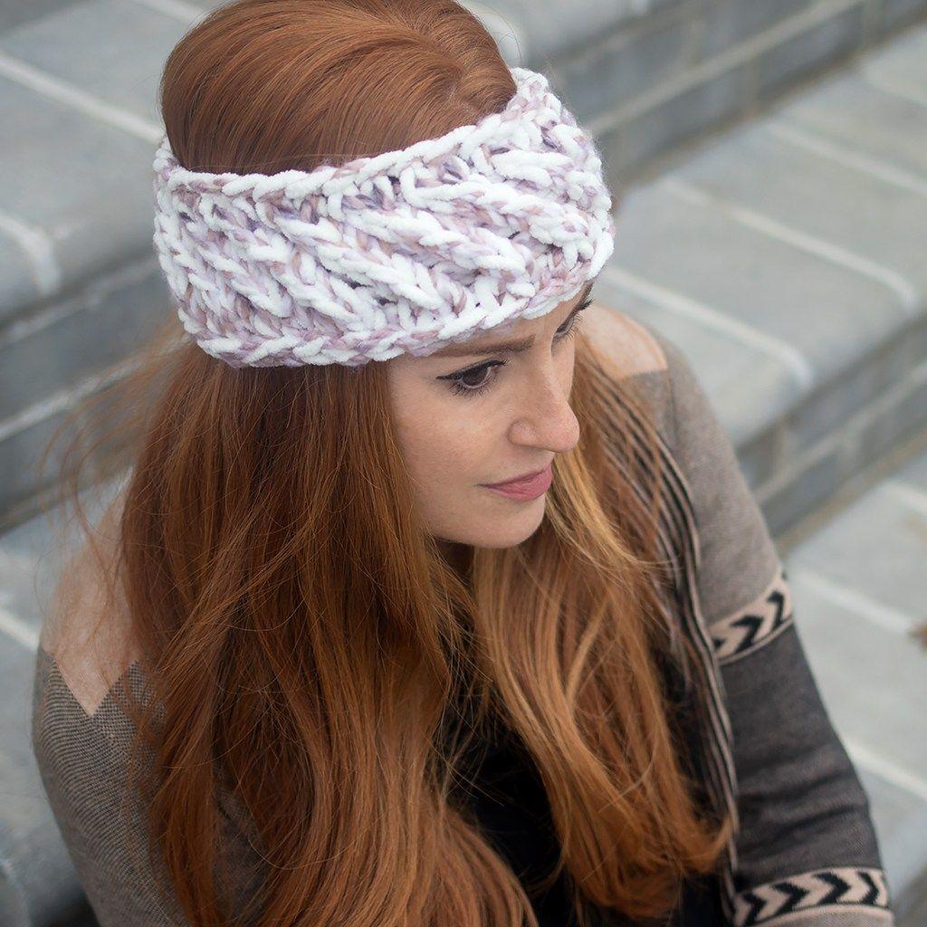 Swirl Headband Knitting Pattern | Knit headband pattern ...