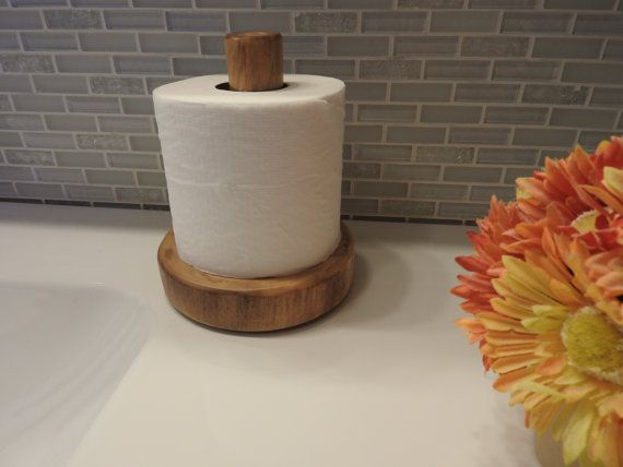 Log Countertop Toilet Paper Holder Clear Finish By