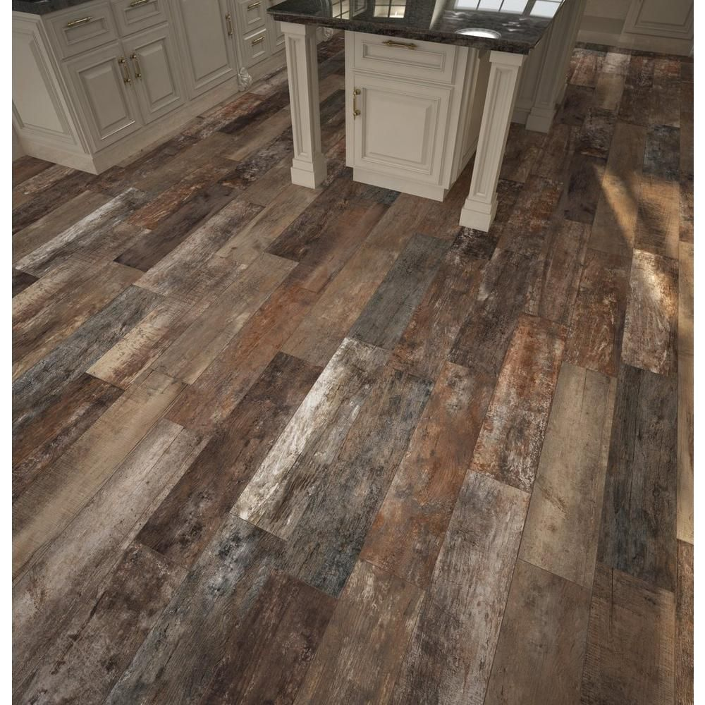 Porcelain Tile Wood Plank: Roanoke Multi Wood Plank Porcelain Tile In 2019