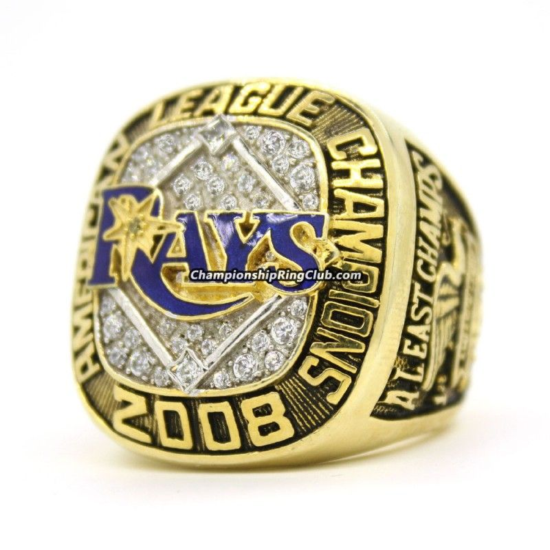 2008 Tampa Bay Rays American League Championship Ring Championship Rings Tampa Bay Rays Rings