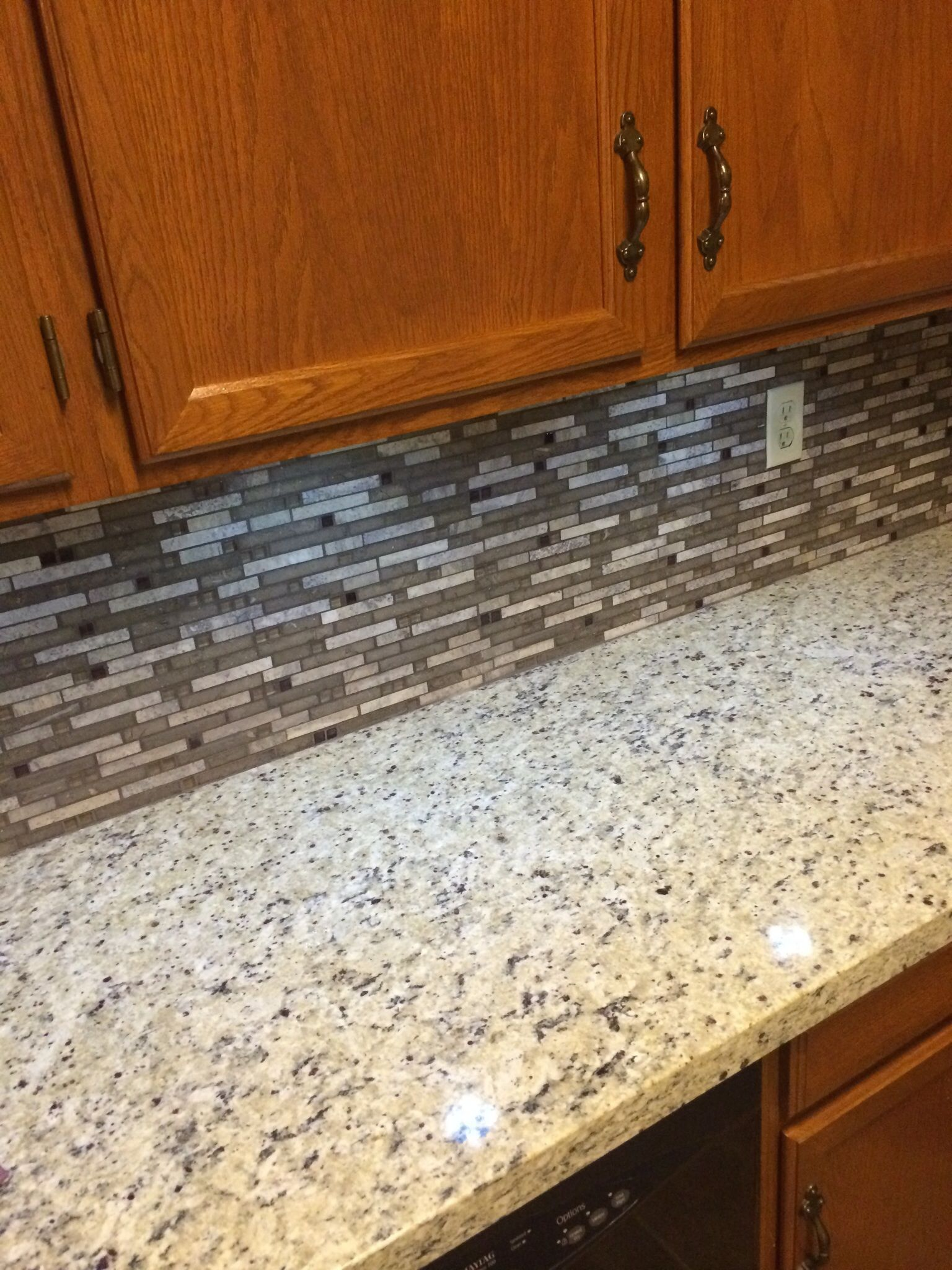 granite countertops with tile backsplash google search for the