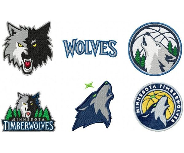 Minnesota Timberwolves Logos Machine Embroidery Design For Instant