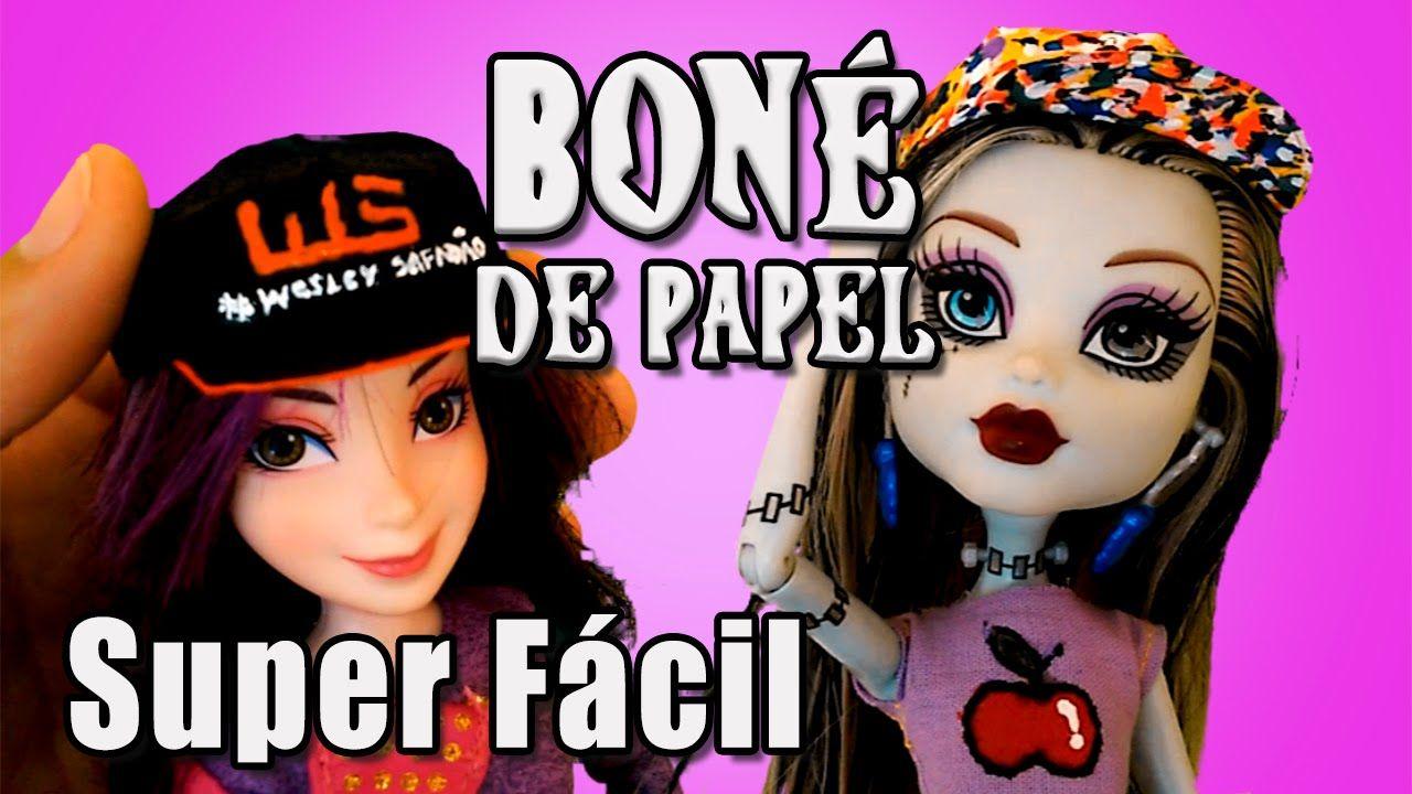 Como Fazer Bone De Papel Para Barbie Mh Eah E Outras Bonecas