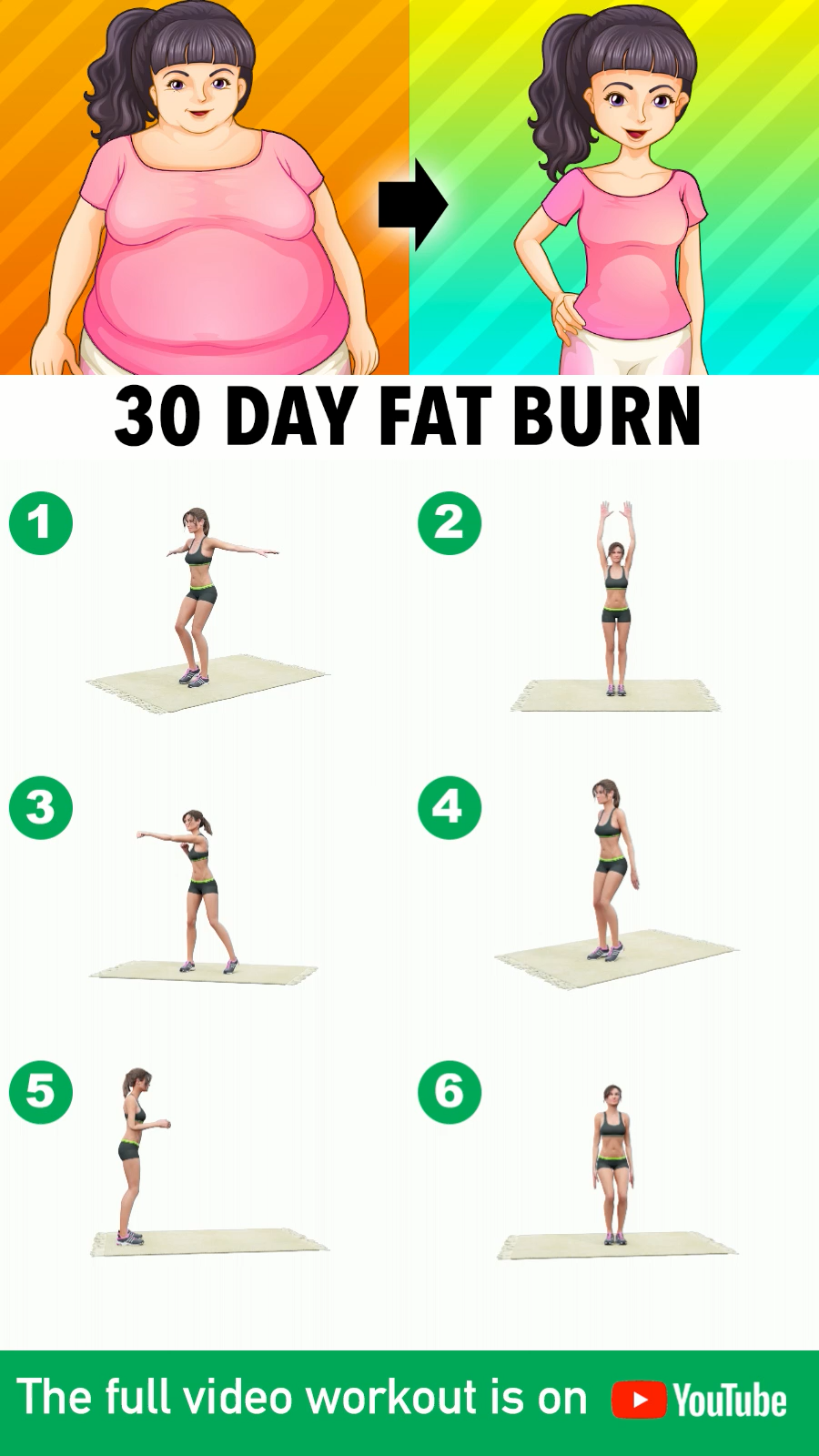 30-Day Fat Burn At Home: Top Weight Loss Exercises