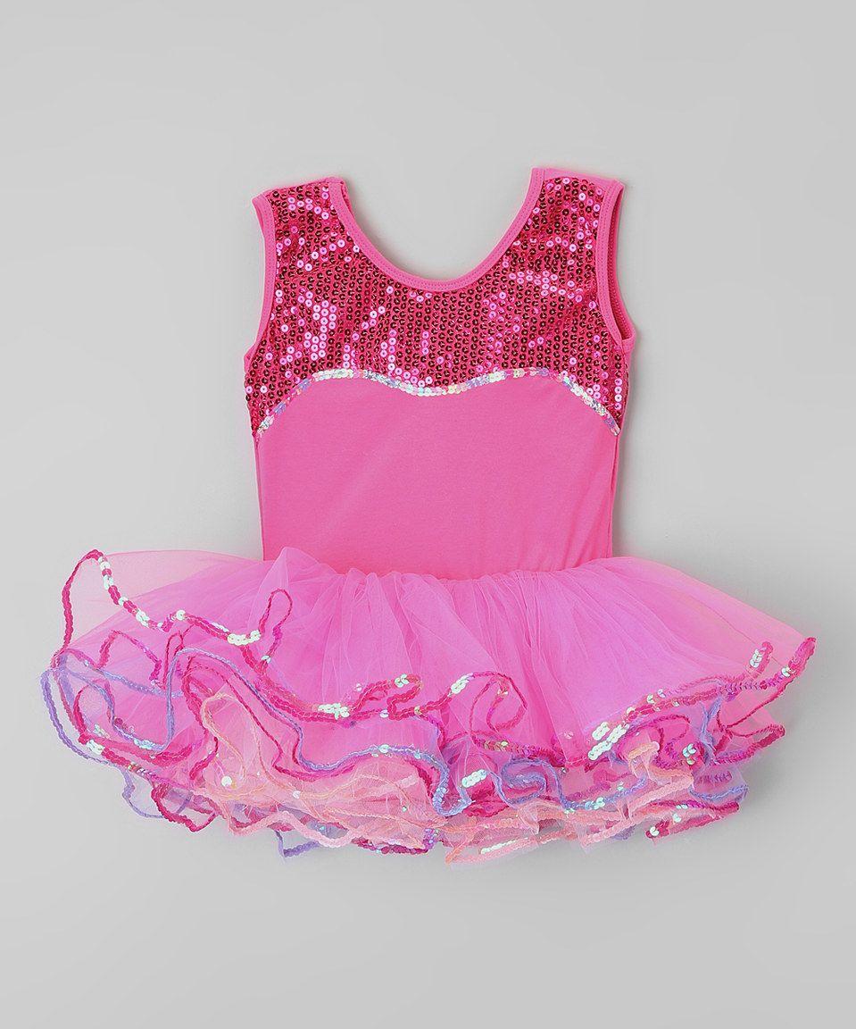 0fa089b9fd22 Popatu by Posh Hot Pink Sequin Tutu Dress - Kids by Popatu by Posh  #zulilyfinds