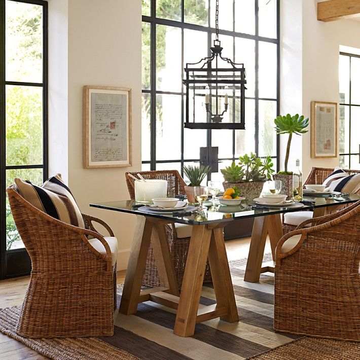 Chic coastal living three things williams sonoma for Nautical kitchen table