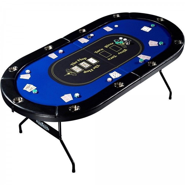 Poker Table 10 Player Man Cave No Assembly Required Premium Playing Surface Barrington Poker Table Poker Poker Table Top