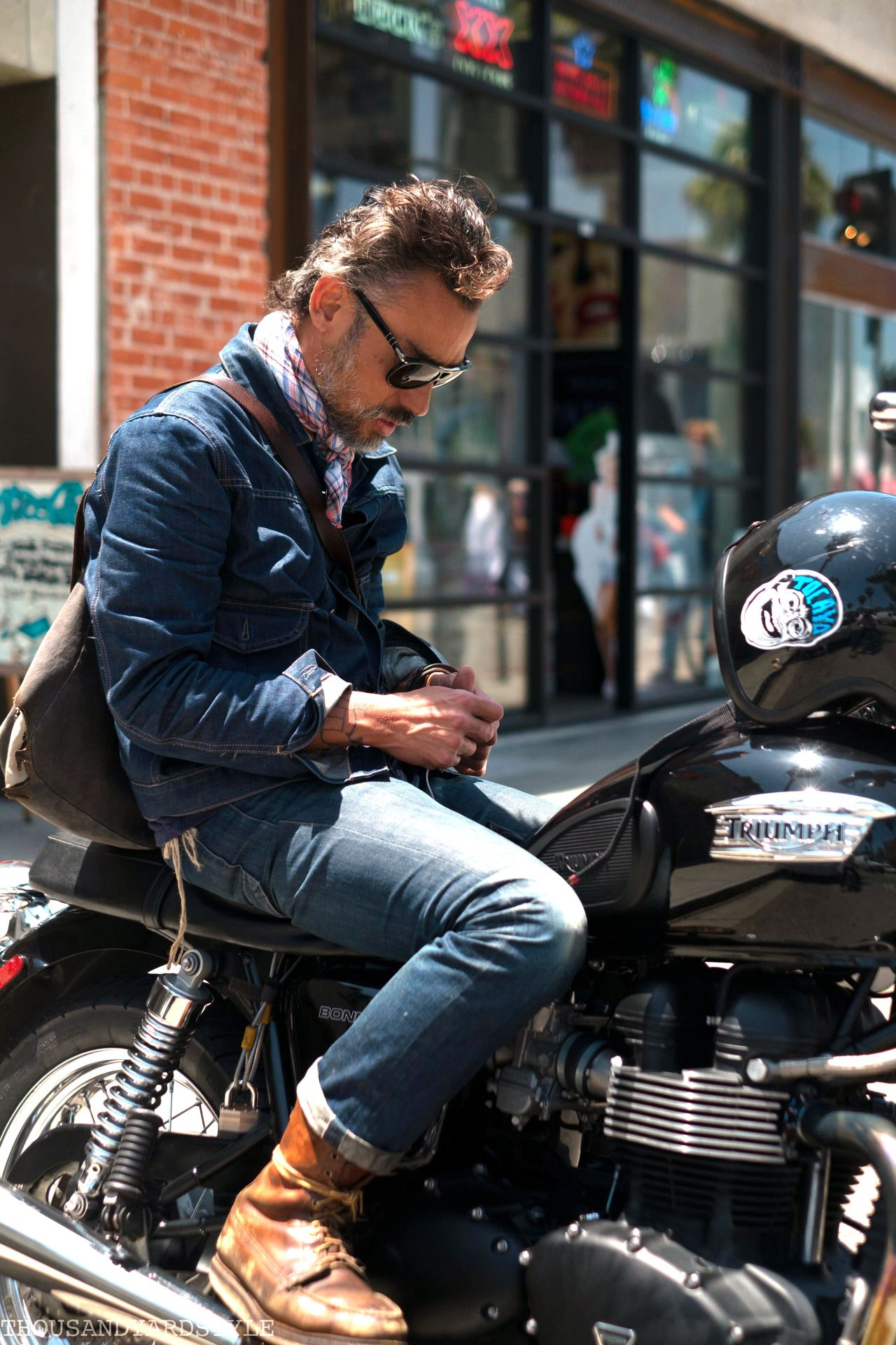 motorcycle getup. Mens street style, Mens outfit