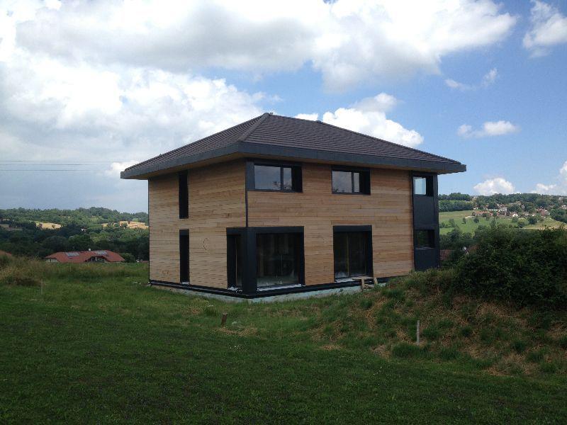 Charpenterie de l 39 ours maison ossature bois 74 maison for Constructeur maison 74