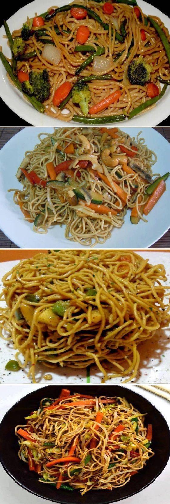 Después De Que Aprendí A Hacer Los Mejores Espaguetis Chinos Vegetarianos Del Mundo La Cena Aquí De Casa Cambió Receitas Soberanas Espagueti Chino Comida Recetas Chinas