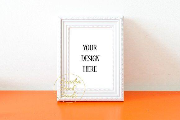 Simple White Frame Mockup by Sandra Stock Studio on @creativemarket ...