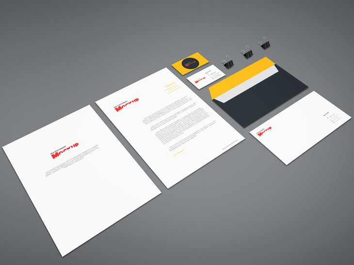 free branding stationery mockup freebies branding business card, Presentation templates