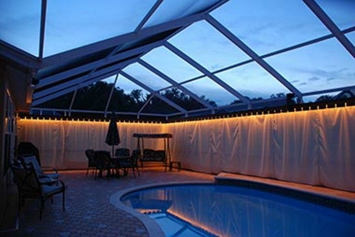 Privacy on demand inc custom outdoor privacy curtains for Pool privacy screen