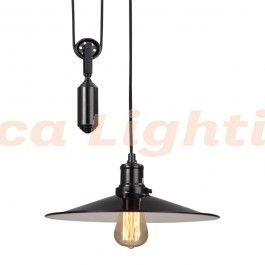 black rise and fall pendant light strata lighting melbourne decor