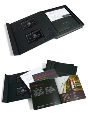 Each pack comprised an outer mailer, a presentation box or folder - introductory letter